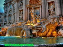 Trevi Fountain, Tradisi Melempar Koin kesebuh Air Terjun di Italia